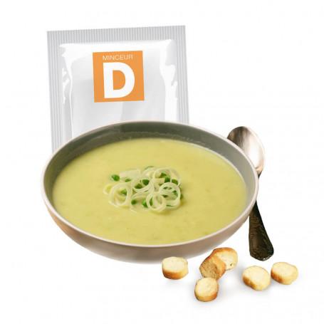 Soupe protéinée Légumes Verts aux croûtons 7 sachets MinceurD