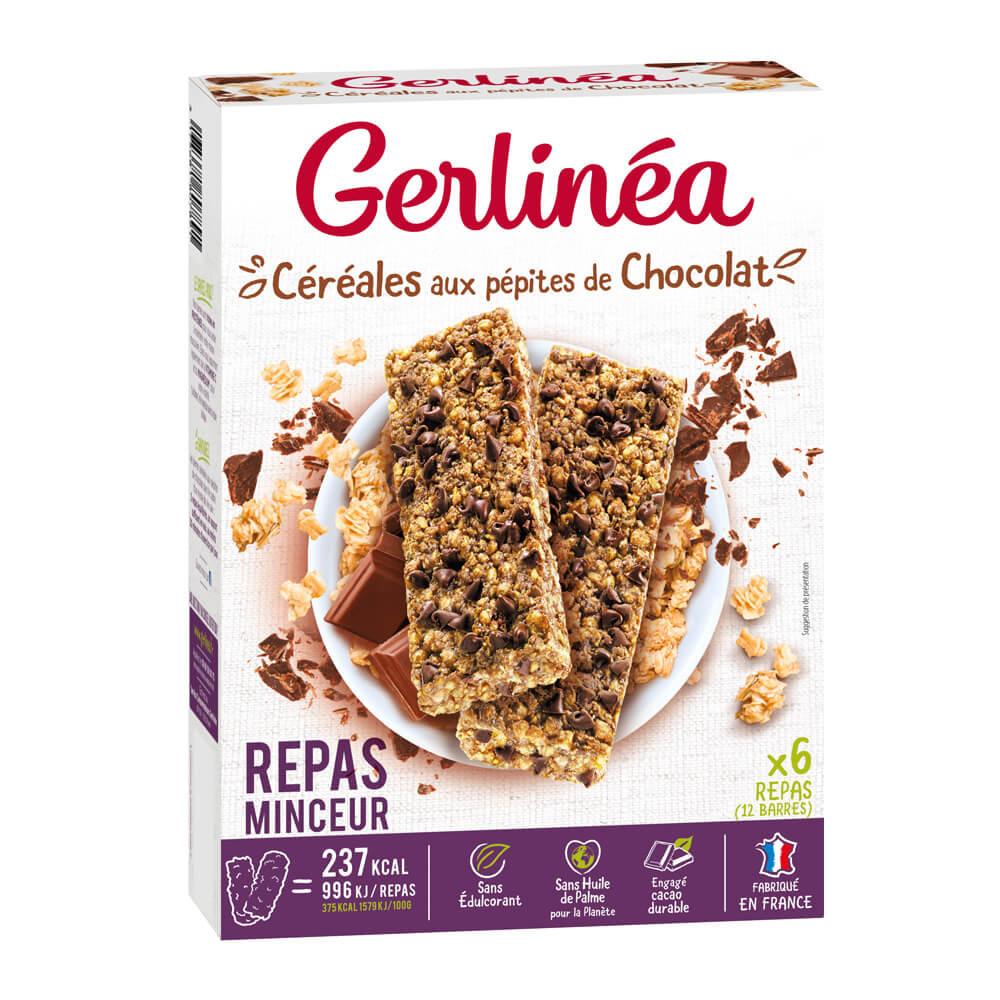 Gerlinéa Barres repas céréales chocolat boîte de 12