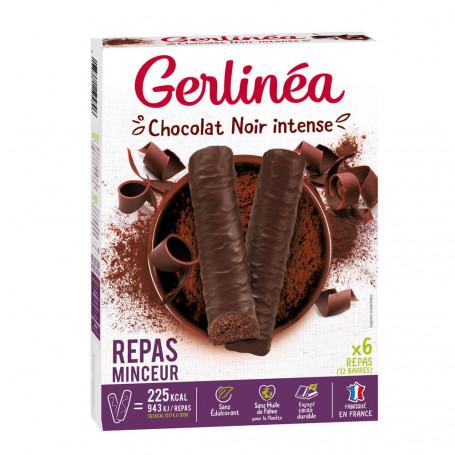 Gerlinéa Barres Repas Minceur Chocolat Noir Intense