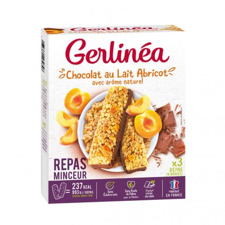 Gerlinea Barres Repas Minceur Céréales Abricot Choco Lait