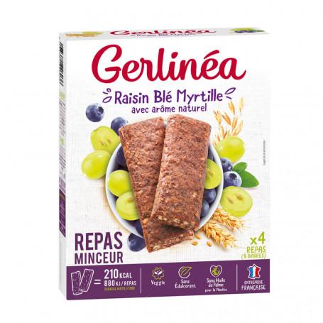 Gerlinéa Barres repas raisin, myrtille et blé boîte de 8