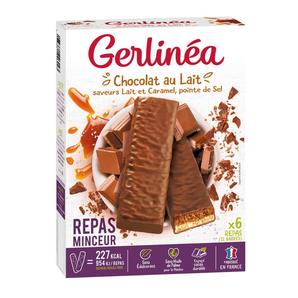 Gerlinéa Barres repas minceur chocolat lait et caramel ...