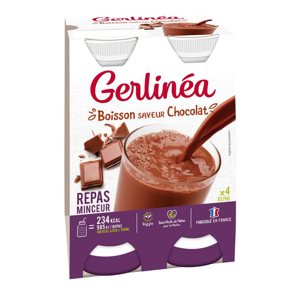 Gerlinéa Repas minceur à boire Chocolat pack de 4 bouteilles