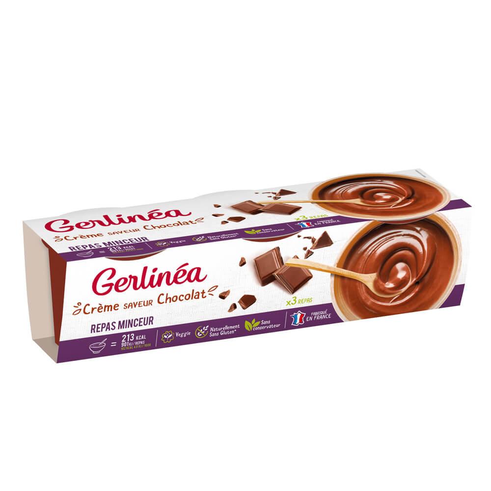 Crème repas minceur Chocolat coupelle Gerlinéa 3 coupelles