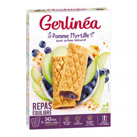 Gerlinéa Barres repas minceur pomme myrtille boîte de 8