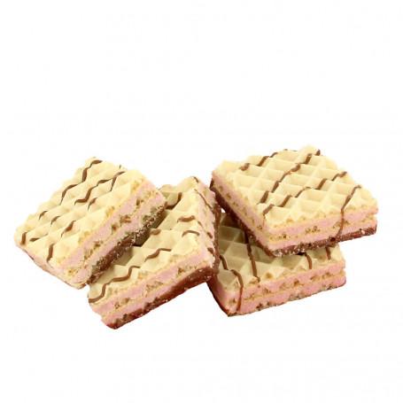 Gaufrettes Protéinées Framboise chocolat blanc Dietisnack