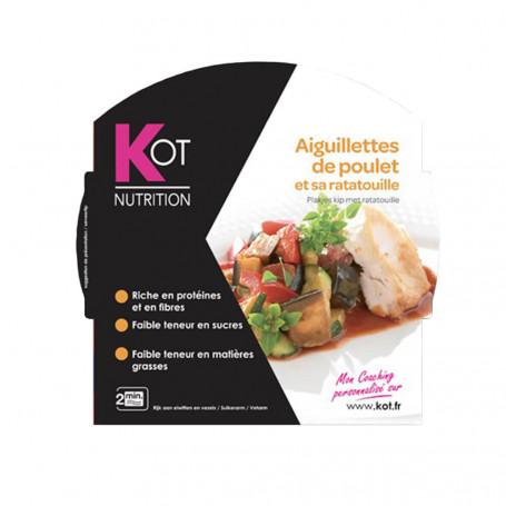 Plat cuisiné Aiguillettes de poulet et sa ratatouille KOT