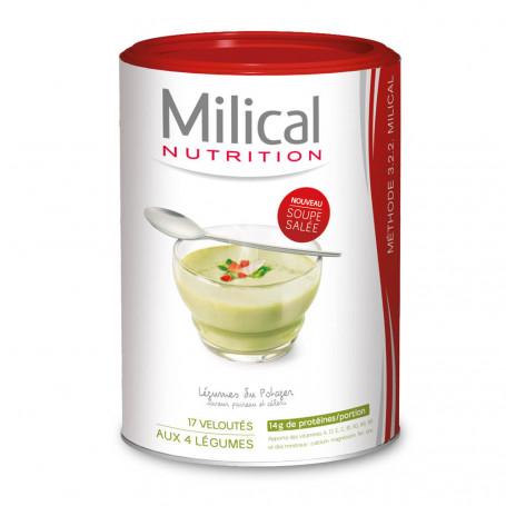 MILICAL Velouté 4 légumes hyperprotéinée Pot ECO 17 portions