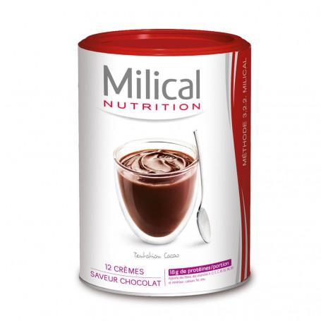 MILICAL Crème hyperprotéinée Chocolat Pot ECO 12 portions