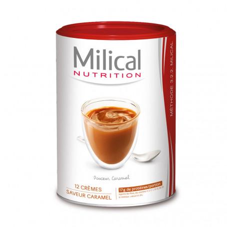 MILICAL Crème hyperprotéinée Caramel Pot ECO 12 portions