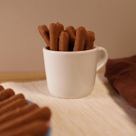 Biscuits protéinés noisette enrobés Cacao façon stick boîte de 4 MinceurD