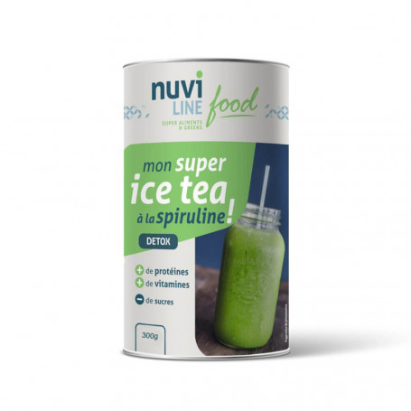 Boisson protéinée Ice Tea Spiruline Pot 300g Nuviline