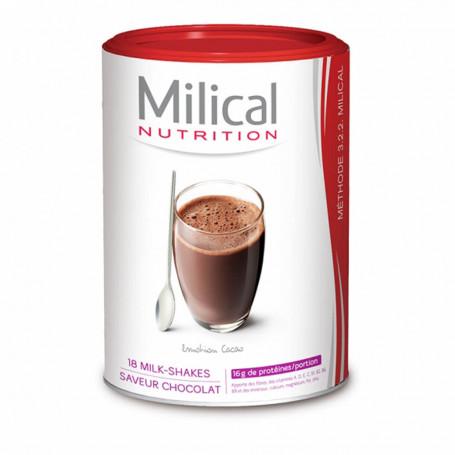 MILICAL Milk-shake hyperprotéinée CHOCOLAT Pot ECO 18 portions