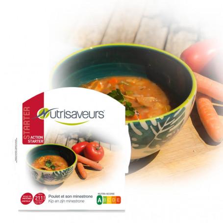 Plat cuisiné Starter Minestrone poulet légumes riz konjac Nutrisaveurs