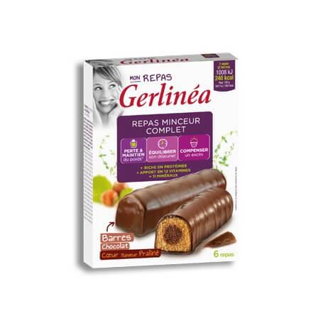 Barres repas chocolat coeur praliné