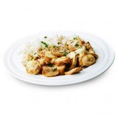 Plat cuisiné Poulet Riz et Cêpes barquette 320g MinceurD