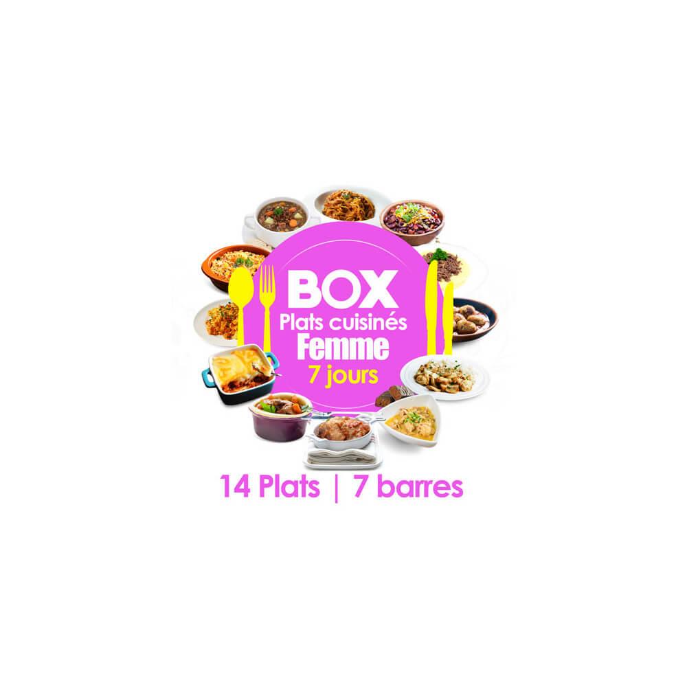 box 7 jours femme r gime plats cuisin s minceurd. Black Bedroom Furniture Sets. Home Design Ideas