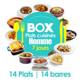 Box 7 jours HOMME - Régime Plats Cuisinés MinceurD