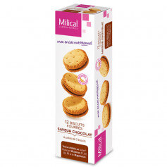 Biscuits fourrés chocolat MILICAL