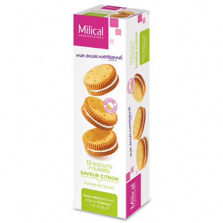 Biscuits fourrés citron MILICAL