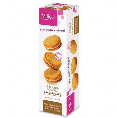 Biscuits fourrés CAFE Milical