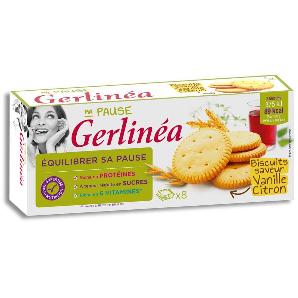 Gerlinéa Pause minceur Biscuits saveur vanille citron ...