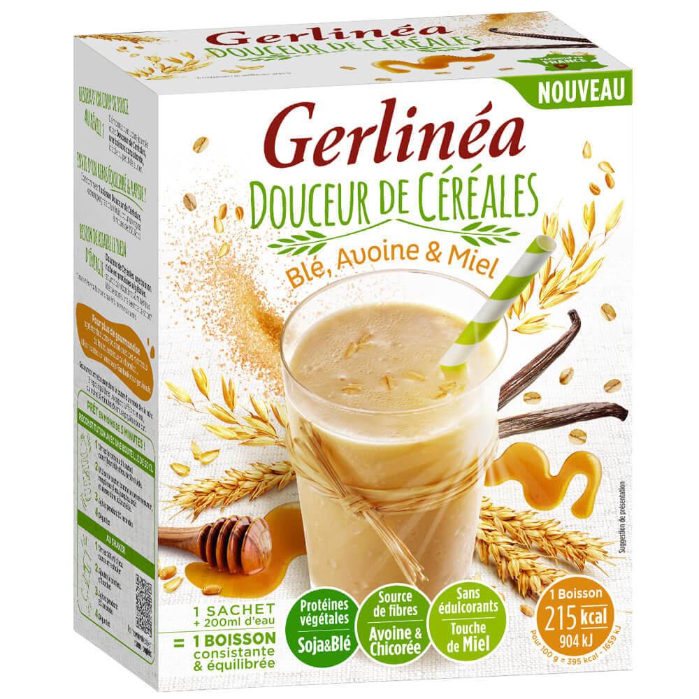 gerlin a milk shake minceur vanille bl avoine miel bo te de 4. Black Bedroom Furniture Sets. Home Design Ideas