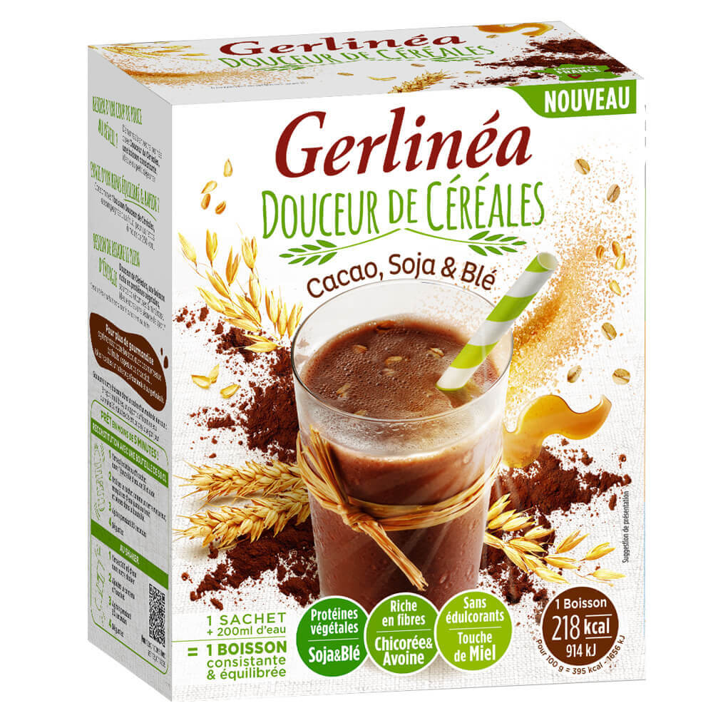 Gerlinéa Milk-shake minceur cacao soja & blé boîte de 4