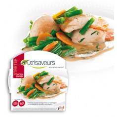 Filet de poulet et légumes à l'estragon