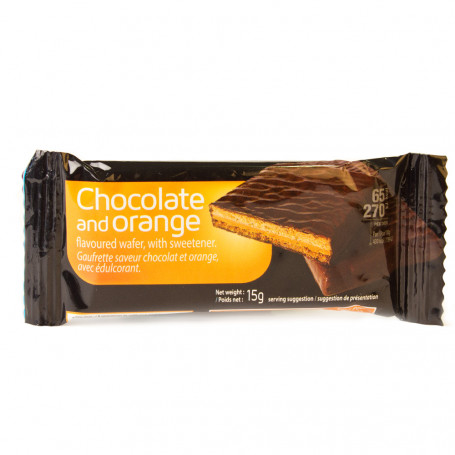 Gaufrette Saveur Orange et Chocolat à l'unité