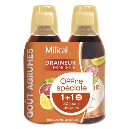 Draineur Minceur Ultra goût Agrumes 2x500ml MILICAL