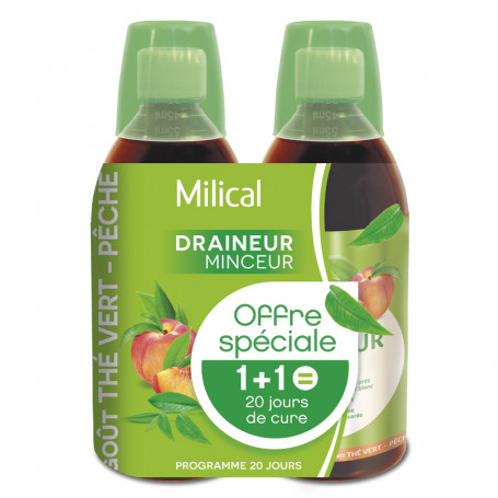 Milical Draineur minceur ultra goût Thé Vert pêche